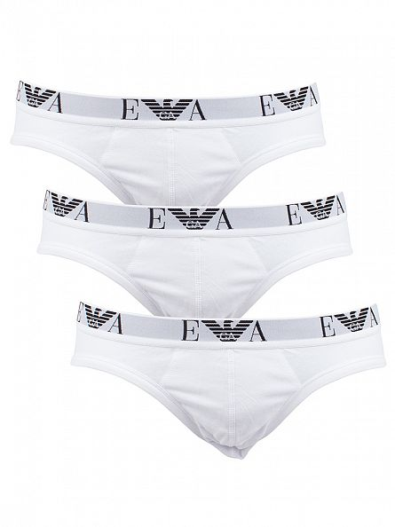 Emporio Armani White 3 Pack Briefs