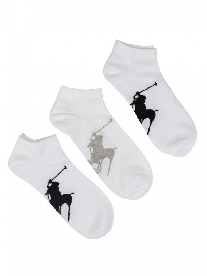 Polo Ralph Lauren White 3 Pack BBP Sole Socks