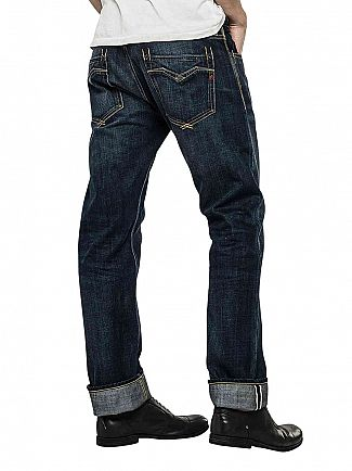 Replay Deep Blue Denim Newbill Comfort Fit Jeans