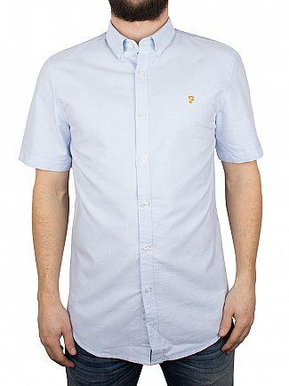 Farah Vintage Sky Blue Brewer Short Sleeved Shirt