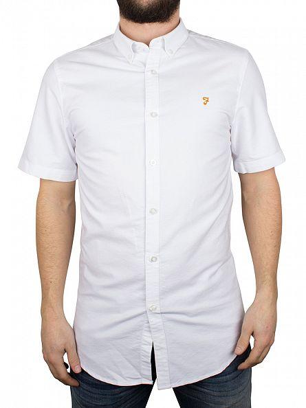 Farah Vintage White Brewer Short Sleeved Shirt