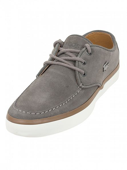 Lacoste Grey Sevrin 2 LCR SRM Suede Trainers
