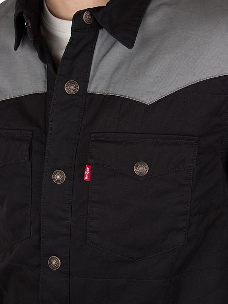 Levi's Black/Grey Barstow Shacket Jacket