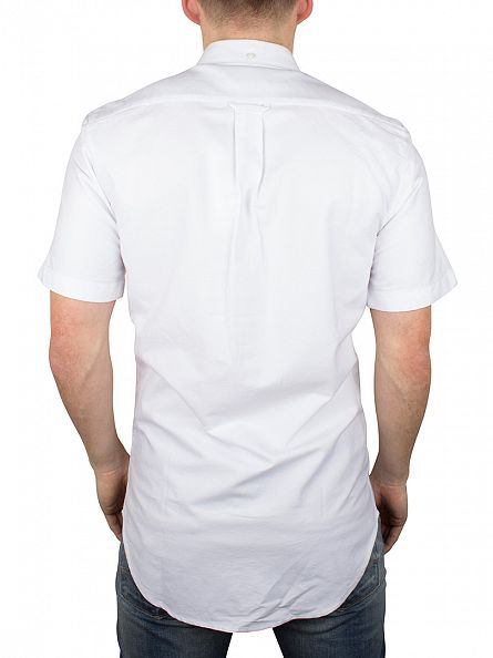 Farah Vintage White Brewer Short Sleeved Shirt