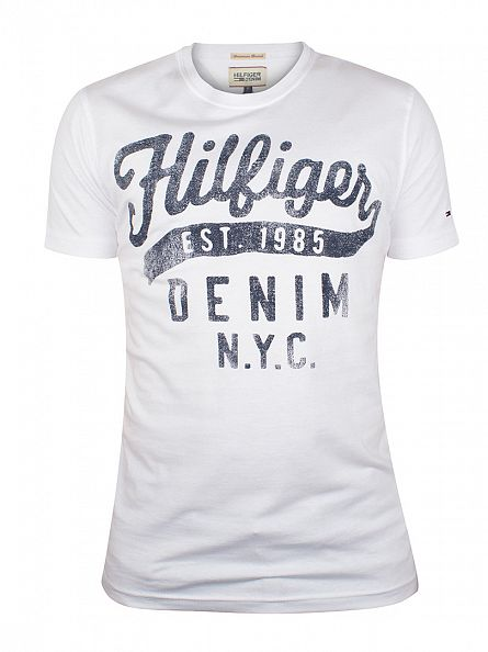Tommy Hilfiger Denim White Tommy Logo T-Shirt