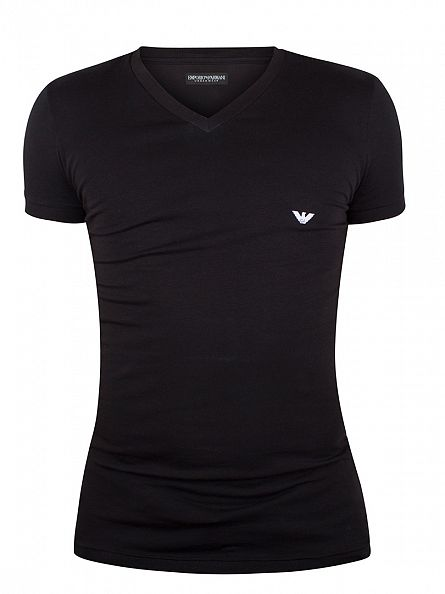 Emporio Armani Black V Neck T-Shirt