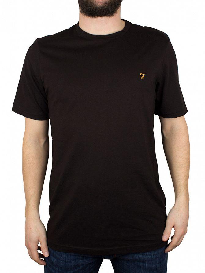 Farah Vintage Black Denny Crew Neck T-Shirt