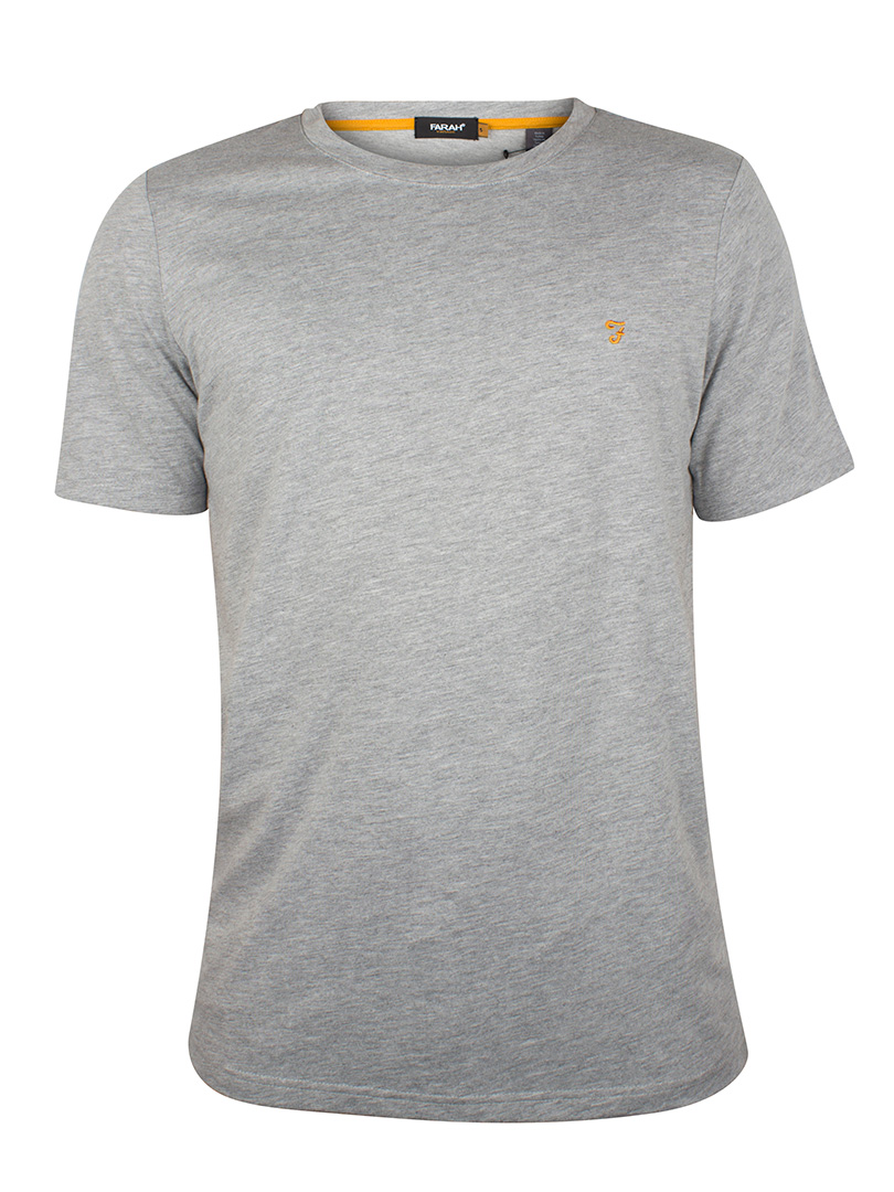 Farah Vintage Rain Heather Denny Crew Neck T-Shirt