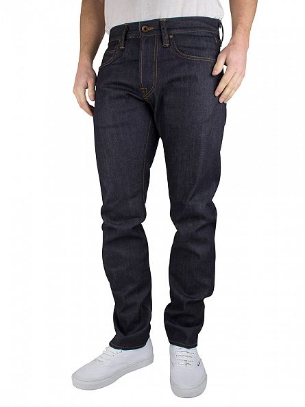 Edwin Blue Unwashed ED-55 Relaxed Tapered Jeans