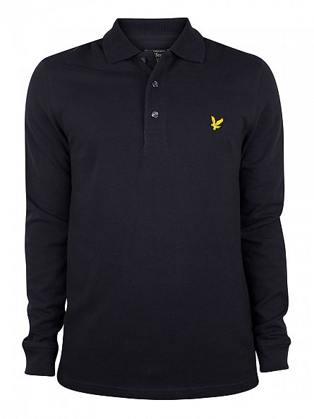 Lyle & Scott New Navy Longsleeved Polo Shirt