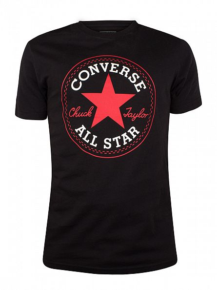 Converse True Black Logo T-Shirt