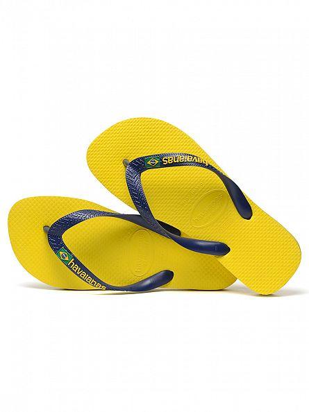 Havaianas Citrus Yellow Brasil Logo Flip Flops
