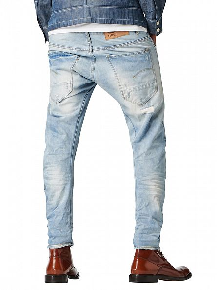 G-Star Light Aged Destroy Arc 3D Slim Jeans