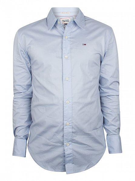 Hilfiger Denim Skyway Blue Sabim Longsleeved Plain Shirt