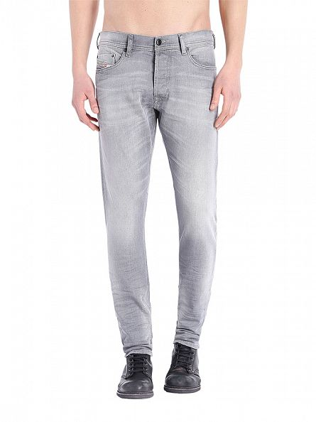 Diesel Grey Tepphar 0839N Slim Carrot Jeans