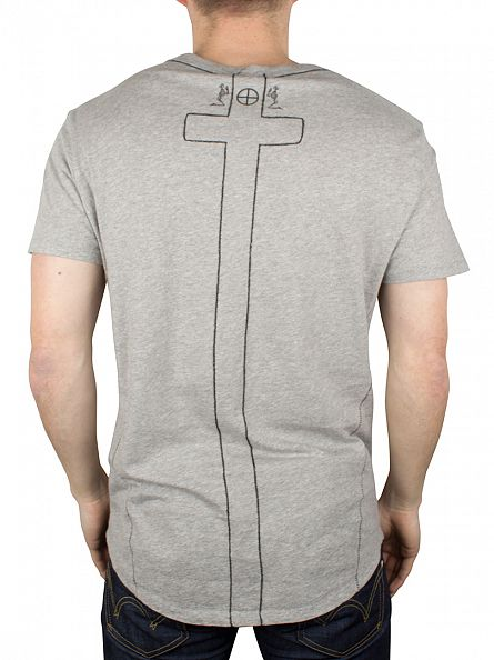 Religion Grey Marl Plain Crew Neck T-Shirt
