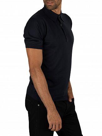 John Smedley Navy Adrian Plain Polo Shirt