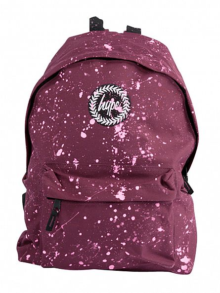 Hype Burgundy/Pink Speckle Backpack