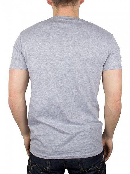 Hype Grey/Black Script Logo T-Shirt
