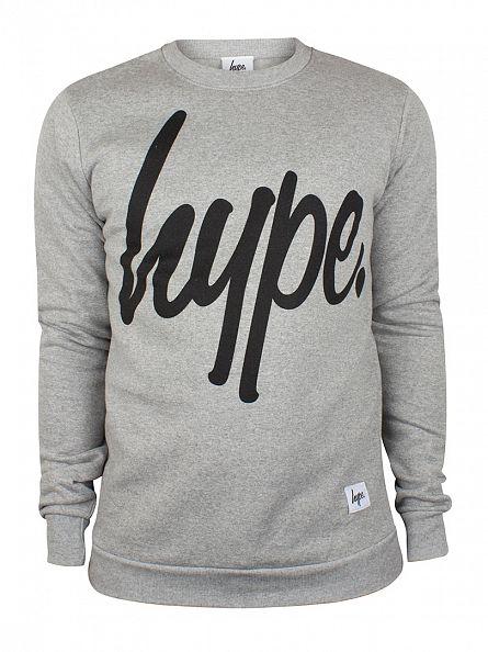 Hype Grey Script Logo Sweatshirt