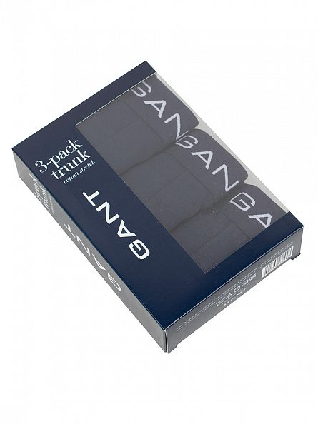 Gant Navy 3 Pack Cotton Stretch Trunks