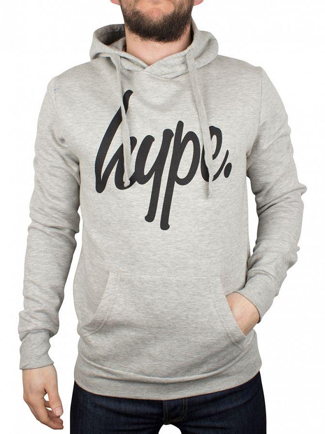 Hype Grey Script Logo Hoodie