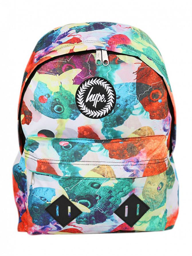 Hype White/Multi Watercolour Backpack