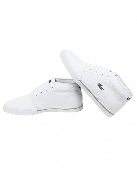 Lacoste White/White Ampthill LCR2 SPM Trainers