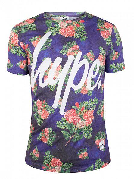 Hype Purple/Flowers Branch Floral T-Shirt