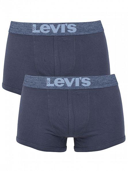 Levi's Light Denim 2 Pack Logo Trunks