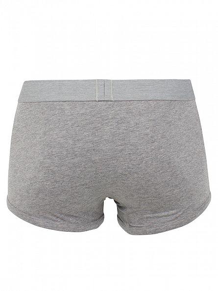 Levi's Middle Grey Melange 2 Pack Logo Trunks