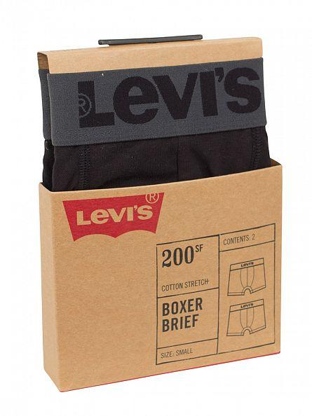 Levi's Jet Black 2 Pack Logo Boxer Briefs