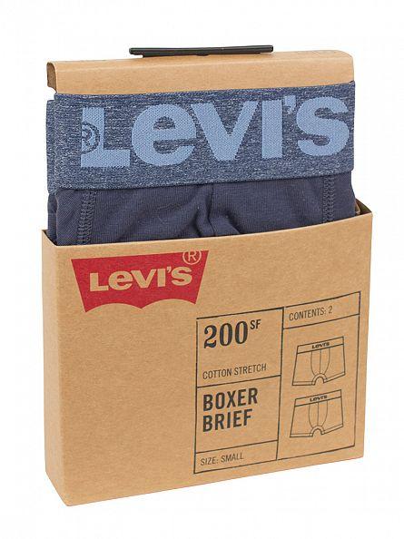 Levi's Light Denim 2 Pack Logo Boxer Briefs