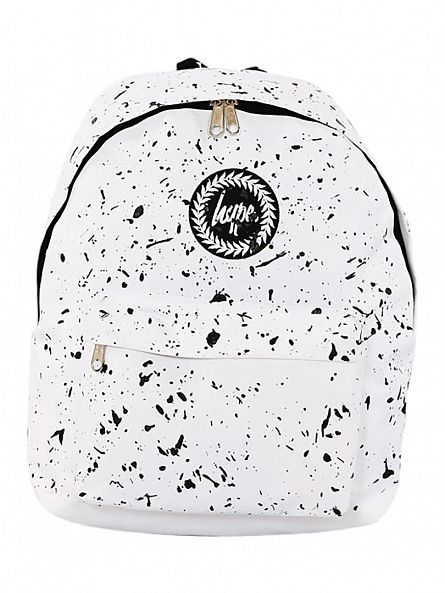 Hype White/Black Splat Backpack
