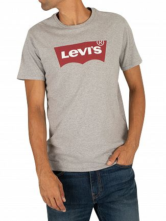 Levi's Grey Red Tab Crew Neck T-Shirt