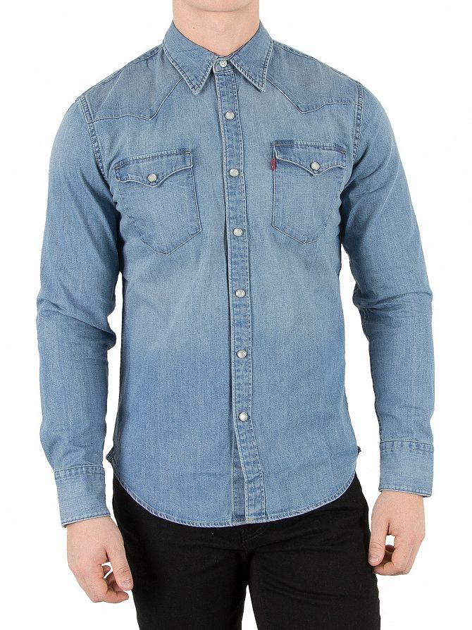 Levi's Red Cast Stone Barstow Western Denim Shirt