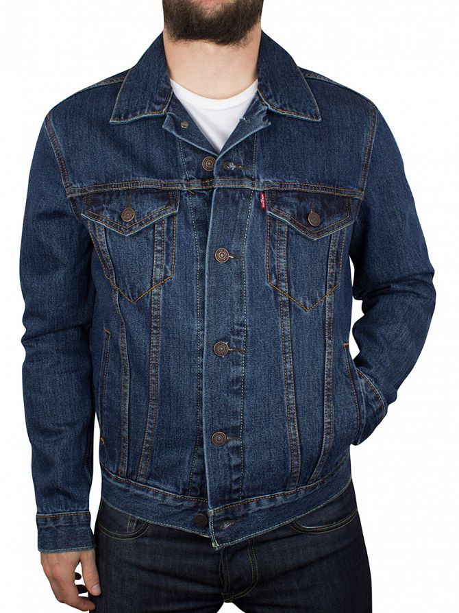 Levi's Dark Stonewash The Trucker Denim Jacket