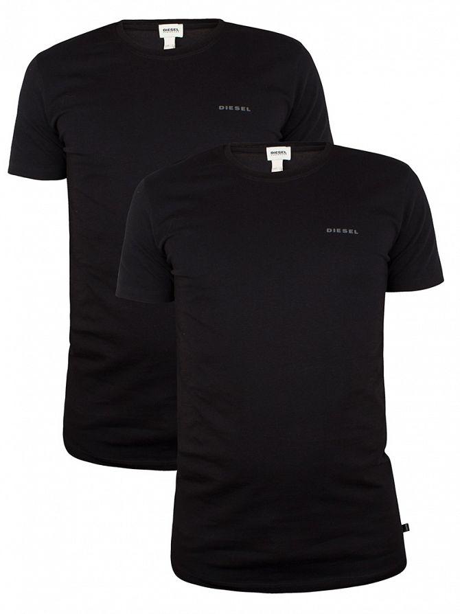 Diesel Black Randal 2 Pack Crew Neck T-Shirts