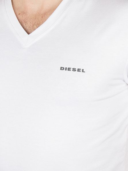 Diesel White Michael 2 Pack V Neck T-Shirts