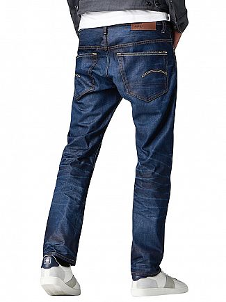 G-Star Dark Aged 3301 Straight Hydrite Denim Jeans