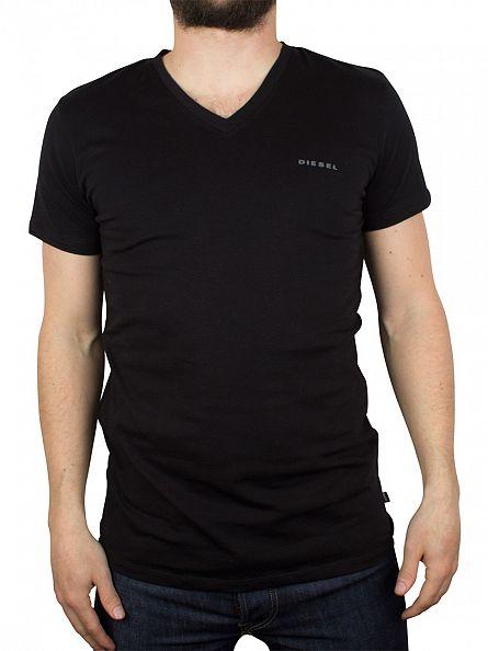 Diesel Black Michael 2 Pack V Neck T-Shirts