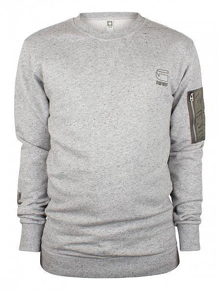 G-Star Grey Heather Hecker Pocket Sweatshirt