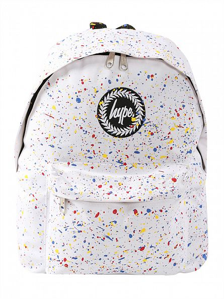 Hype White/Multi Primary Splat Backpack