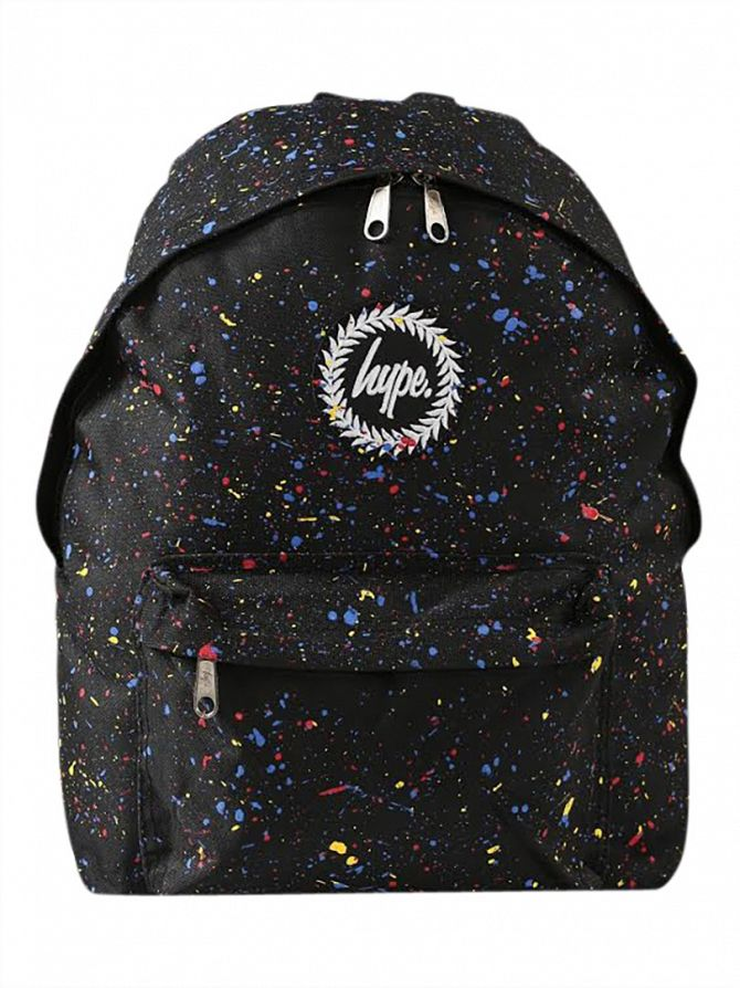 Hype Black/Multi Primary Splat Backpack