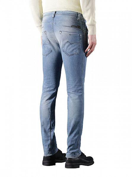 Diesel Blue 842H Darron Regular Slim Tapered Jeans
