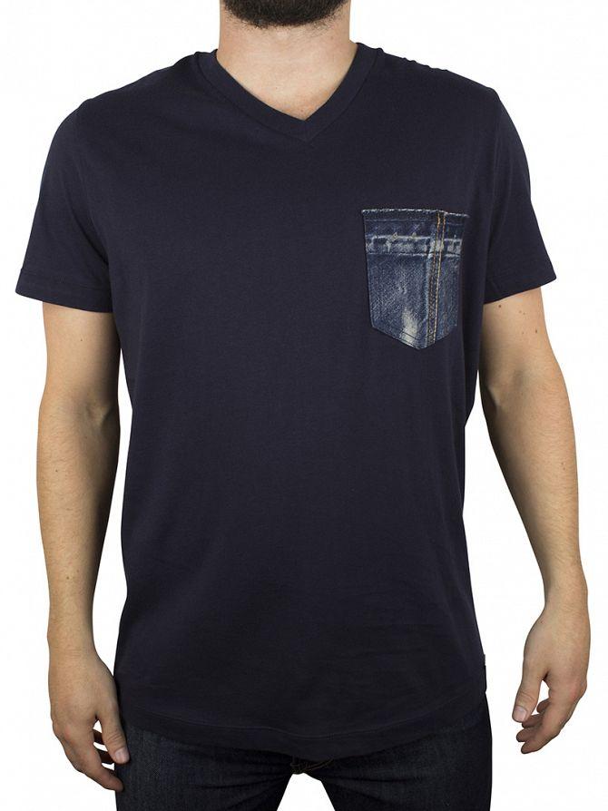 Diesel Navy Bascon V-Neck Pocket T-Shirt