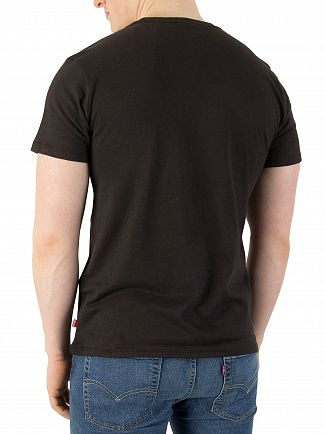 Levi's Black Red Tab Logo T-Shirt