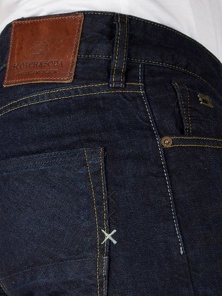 Scotch & Soda Blue Denim Ralston Touchdown Regular Slim Jeans