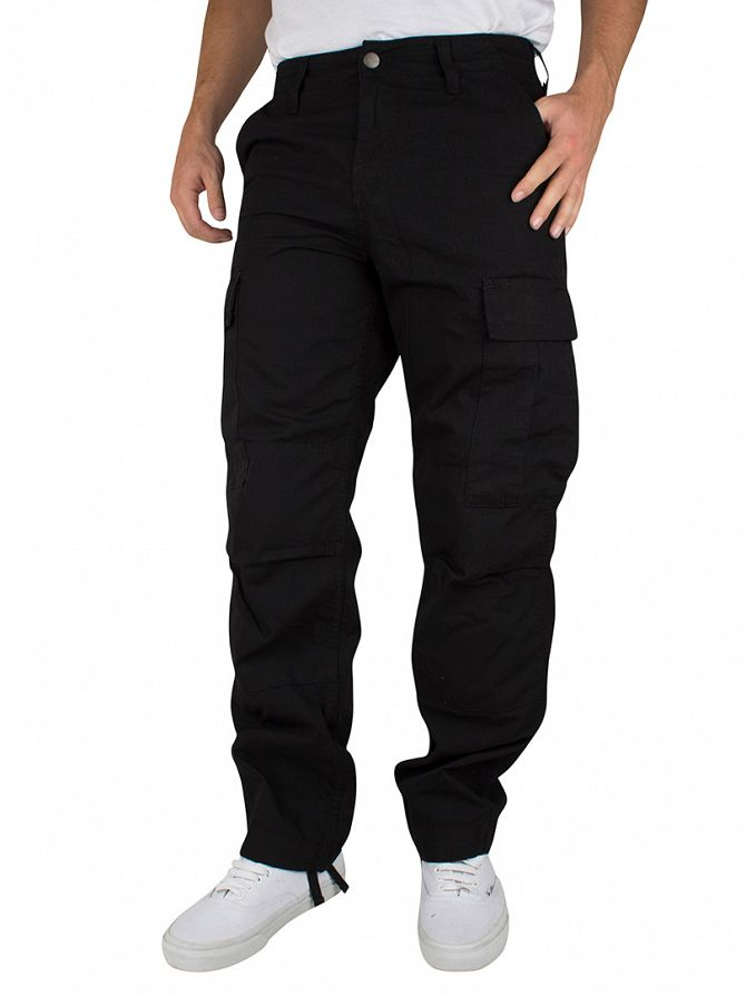 Carhartt WIP Black Rinsed Regular Cargo Pants