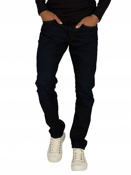 G-Star Dark Aged 3301 Tapered Fit Jeans